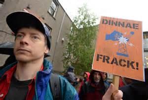 Scots protest fracking