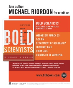 BTL BS poster, U of Winnipeg, March 2015