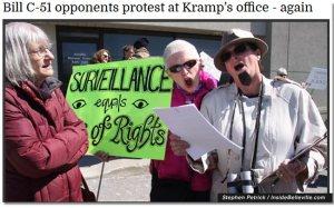 C51 protestors, Belleville